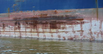 Photograph - Ship Rust 4 by Anita Burgermeister