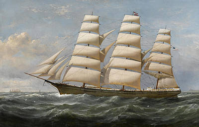 Shipping Painting - Ship by Samuel Walters