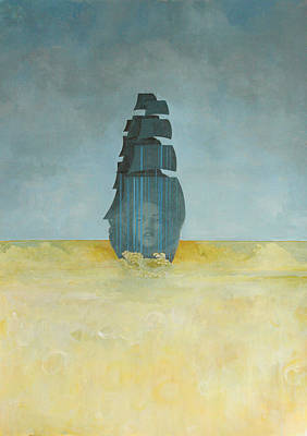 Contemporary Painting - Ship by Sandra Cohen