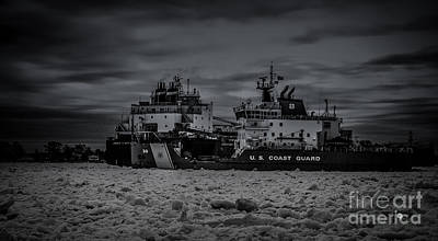 Photograph - Ship Stuck In The Ice Flow by Ronald Grogan