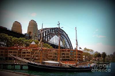 Ship Under Sydney Bridge Art Print by John Potts