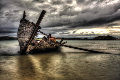 Photograph - Ship Wreck by Craig Brown