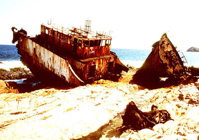 Photograph - Ship Wrecked by Robert  Rodvik