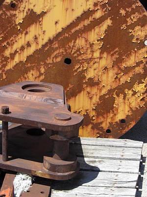 Photograph - Ship Yard Rust 5 by Anita Burgermeister