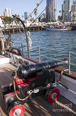 Photograph - Shipboard Cannon by Brenda Kean