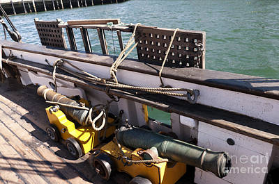 Photograph - Shipboard Cannons by Brenda Kean
