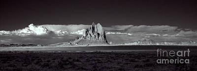 Photograph - Shiprock Evening Panorama by Erik Poppke