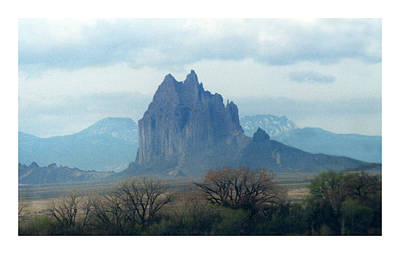 Photograph - Mystical Mountain Shiprock New Mexico by Jack Pumphrey