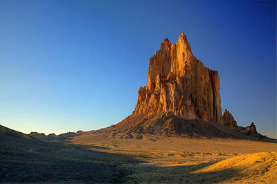Photograph - Shiprock Sunset by Alan Vance Ley