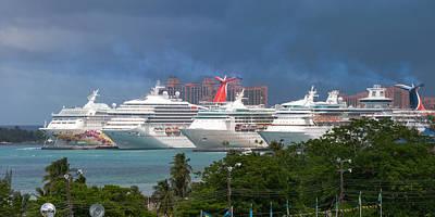 Photograph - Ships And Atlantis by Ed Gleichman