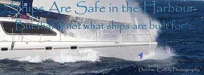 Photograph - Ships Are Safe by Debbie Cundy