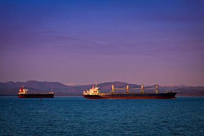Photograph - Ships At Anchor by Joseph Bowman