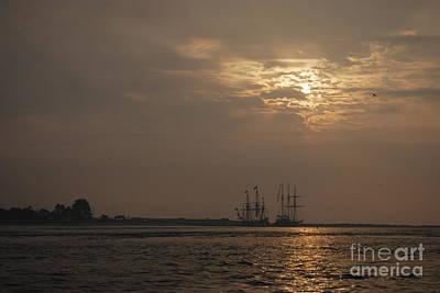 Ships At Dawn Art Print