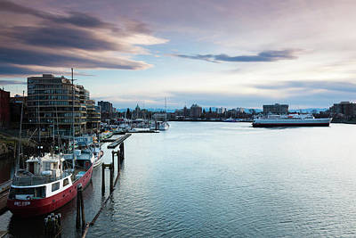 Inner World Photograph - Ships At Inner Harbor, Victoria by Panoramic Images