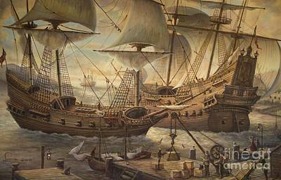 Ships At Port Original by Martin Lacasse