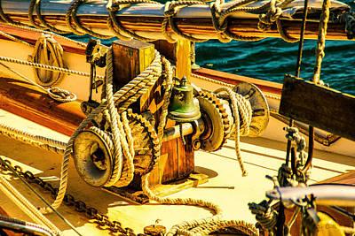 Photograph - Ships Bell Sailboat by Bob Orsillo