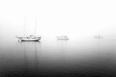 Fog Photograph - Ships In The Fog  by Priya Ghose