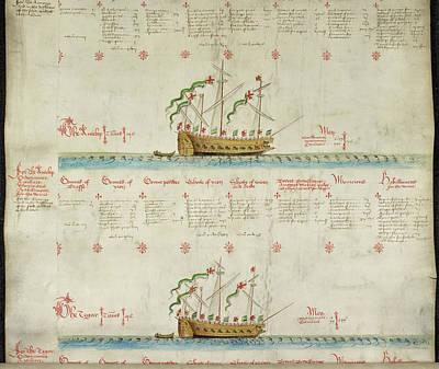 Ships In The King's Navy Fleet From 1549 Art Print