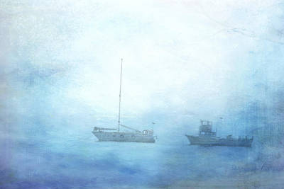 Photograph - Ships In The Morning Haze  by Lali Kacharava