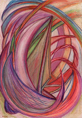 Abstract Movement Drawing - Ships by Kelly K H B