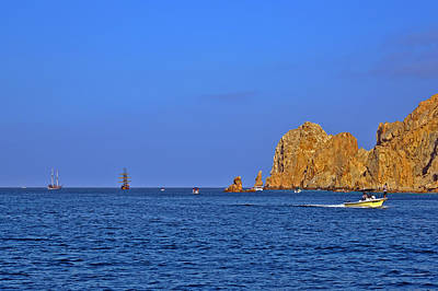 Waterscape Photograph - Ships Lining Up At Land's End by Christine Till