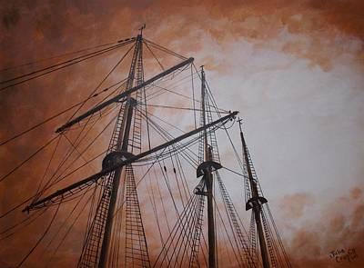 Ships Masts Art Print by Julie Cranfill