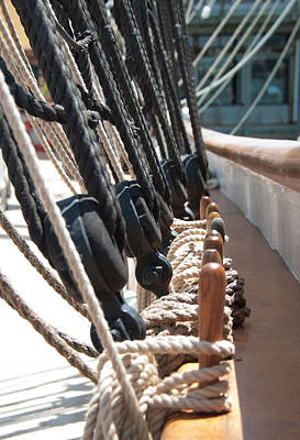 Photograph - Ship's Rigging by John Black