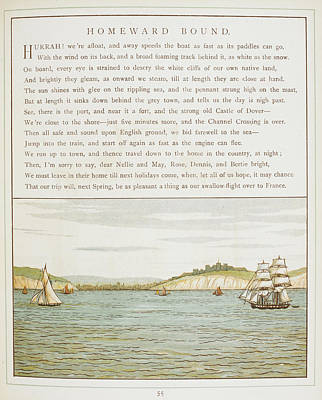 Ships Sailing Near Dover Print by British Library