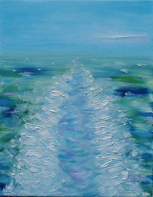 Painting - Ship's Wake by Judith Rhue