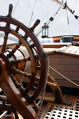 Photograph - Ship's Wheel Aboard Hms Bounty by Michelle Constantine