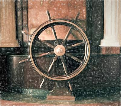 Photograph - Ship's Wheel by Bill Howard
