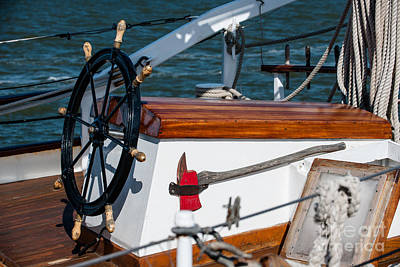 Photograph - Ships Wheel by Dale Powell