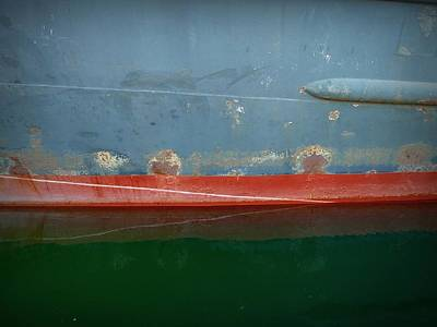 Photograph - Shipside Abstract Iv by Patricia Strand