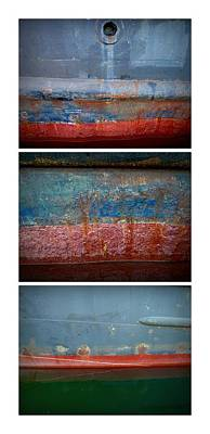 Photograph - Shipside Triptych by Patricia Strand