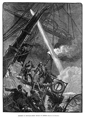 Flare Painting - Shipwreck, 1881 by Granger