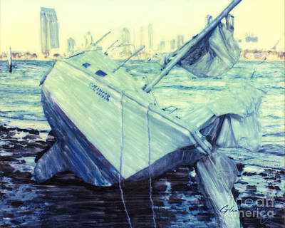 Photograph - Shipwreck After The Storm  by Glenn McNary