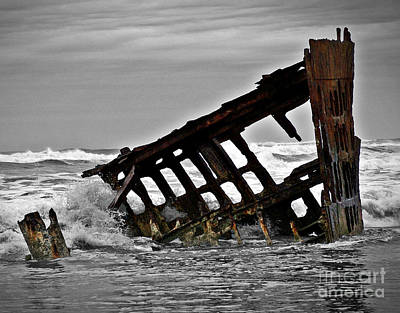 Mixed Media - Shipwreck by Chalet Roome-Rigdon