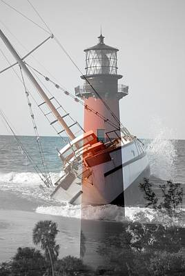 Art Print featuring the photograph Shipwreck by George Mount