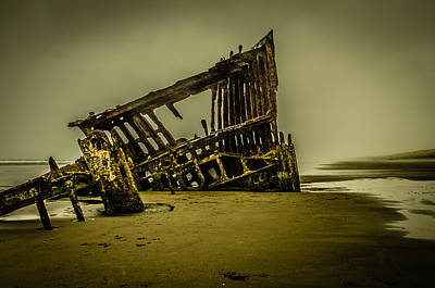 Peter Iredale Photograph - Shipwreck In A Storm by Brian Xavier