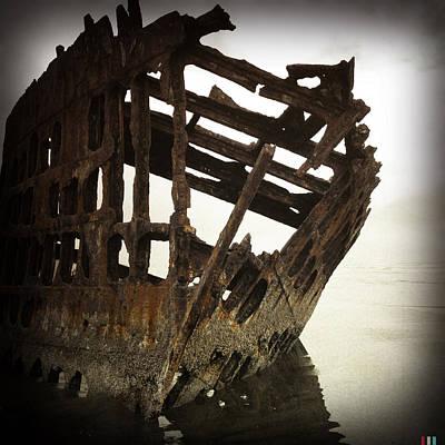 Peter Iredale Digital Art - Shipwreck by Jeff Clark