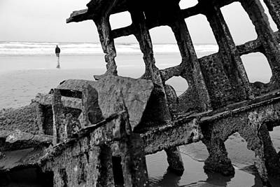 Photograph - Shipwreck On The Beach No.2 by Daniel Woodrum