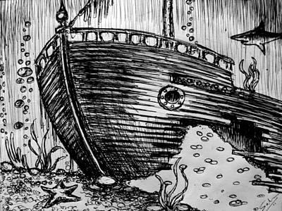 Shipwreck Art Print by Salman Ravish