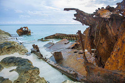 Photograph - Shipwreck by Yvonne Berger
