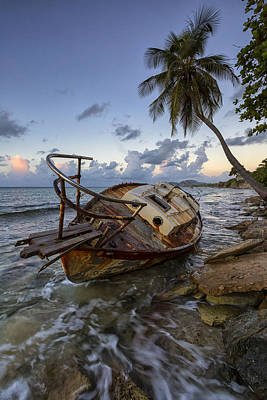Shipwrecked Art Print by Patrick Downey
