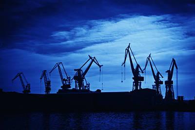 Retro Photograph - Shipyard Crane by Modern Art Prints