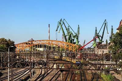 Pomeranian Photograph - Shipyard Gdansk by Photostock-israel