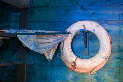 Photograph - Shipyard Lifesaver by Laurie Tsemak