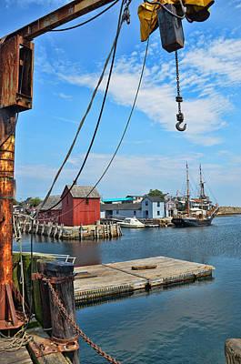 Shipyard Of Cape Ann... Art Print by Joanne Beebe