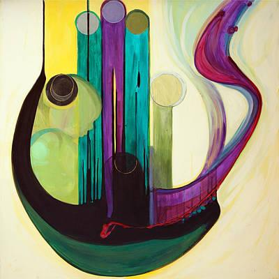 Painting - Shir Lamaalot Psalm 121 by Marlene Burns