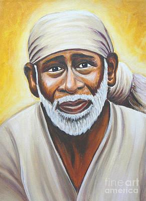 Sai Baba Painting - Shirdi Sai Baba by Gayle Utter